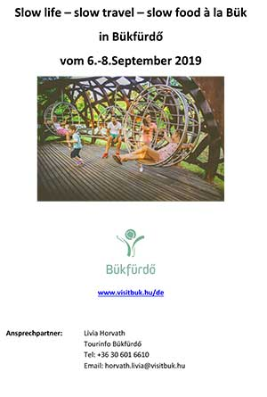 Programm Slow life, slow travel, slow food in Bük