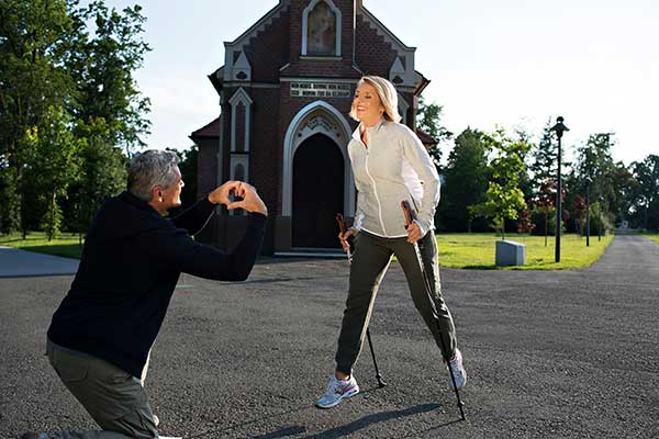 Nordic Walking im Kurpark der Therme Radenci, Foto © SAVA Hotels & Resorts